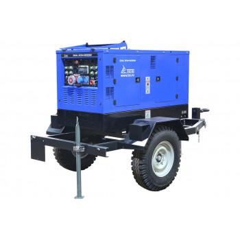 Двухпостовой дизельный сварочный генератор TSS DUAL DGW 28/600EDS-A на тракторном шасси